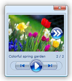 drop down window widget Photo Gallery Script