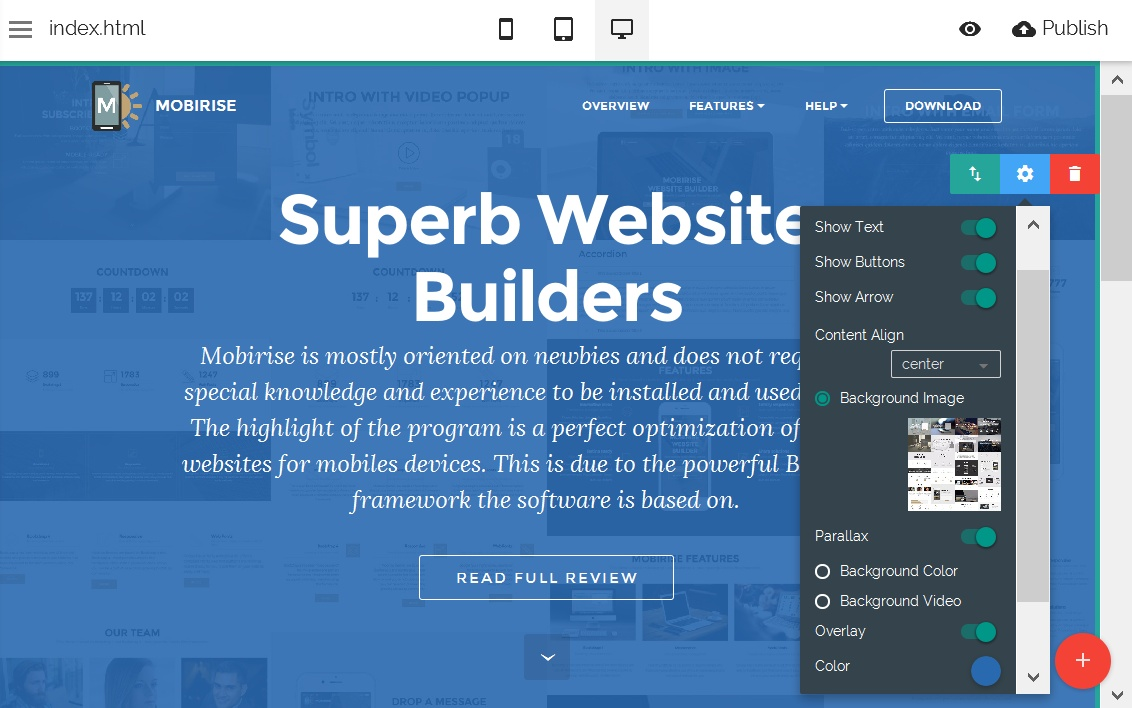Responsive Site Editor