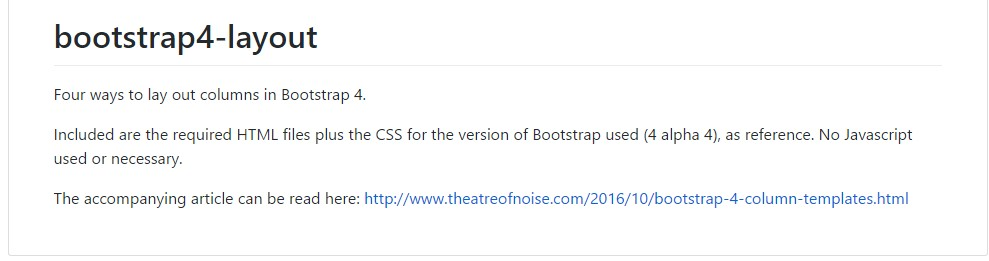 Layout examples  inside Bootstrap 4