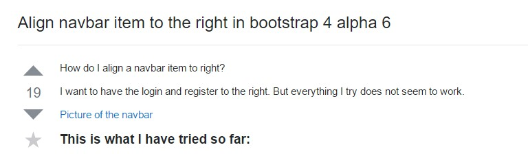 Adjust navbar  thing to the right  inside Bootstrap 4 alpha 6
