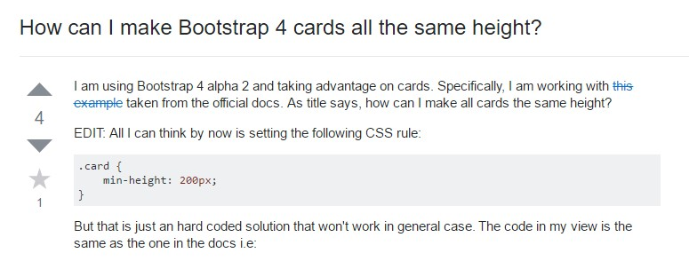 Insights on  just how can we  set up Bootstrap 4 cards  all the same tallness?