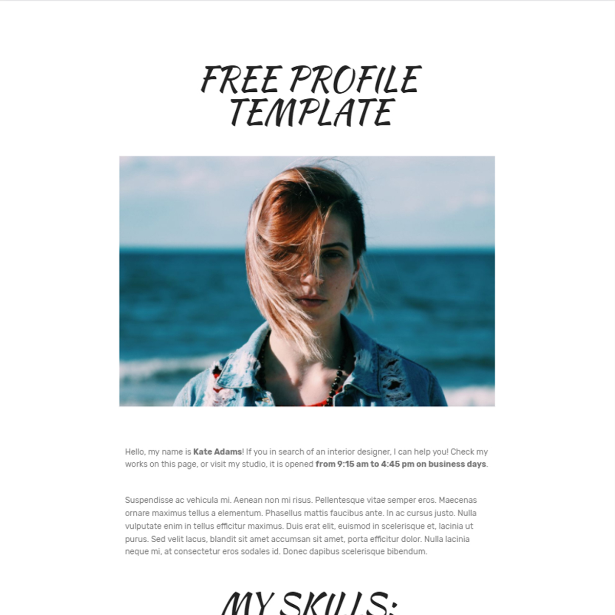 HTML5 Bootstrap  Profile Themes