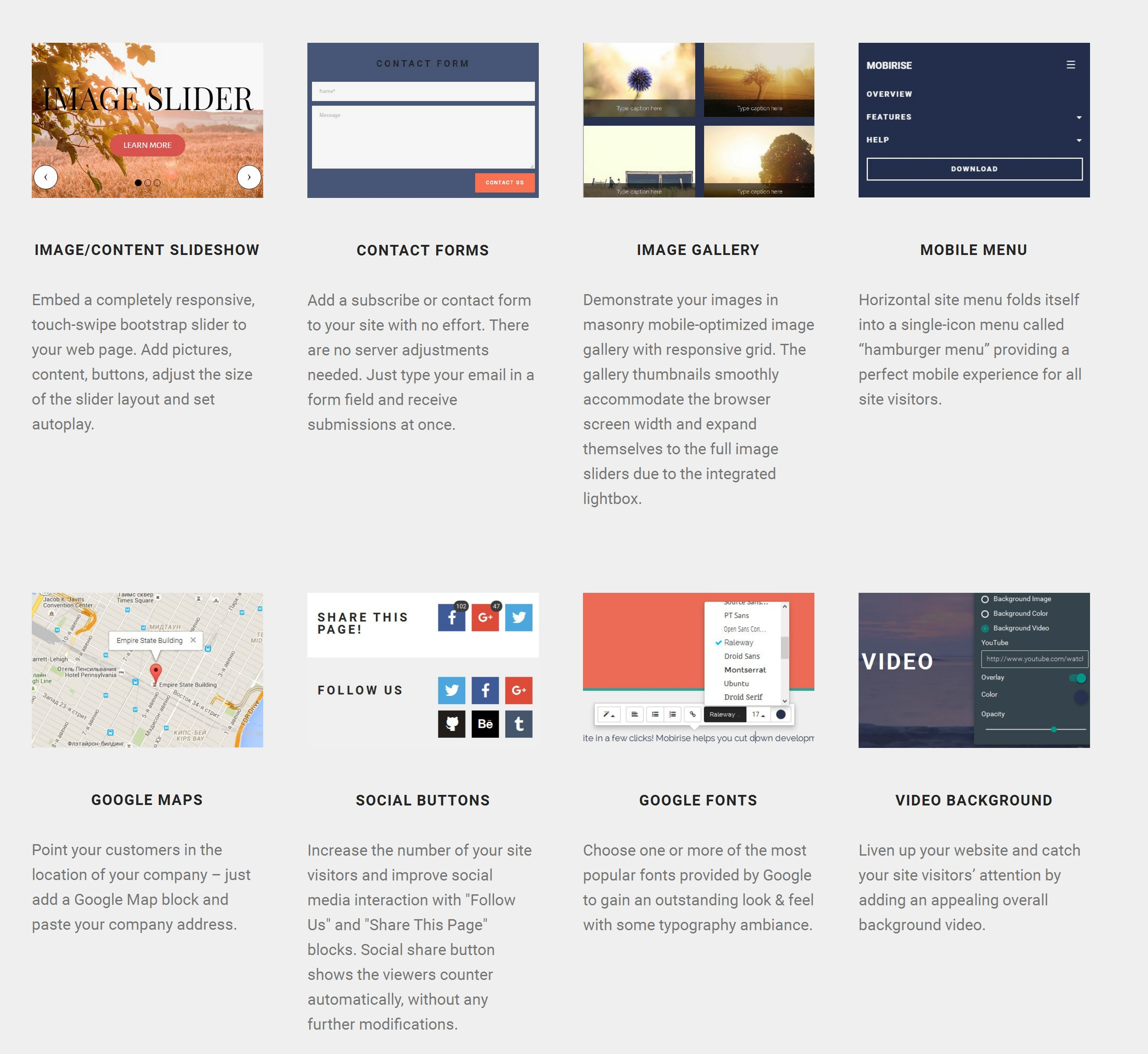 Fast and Simple Website Builder