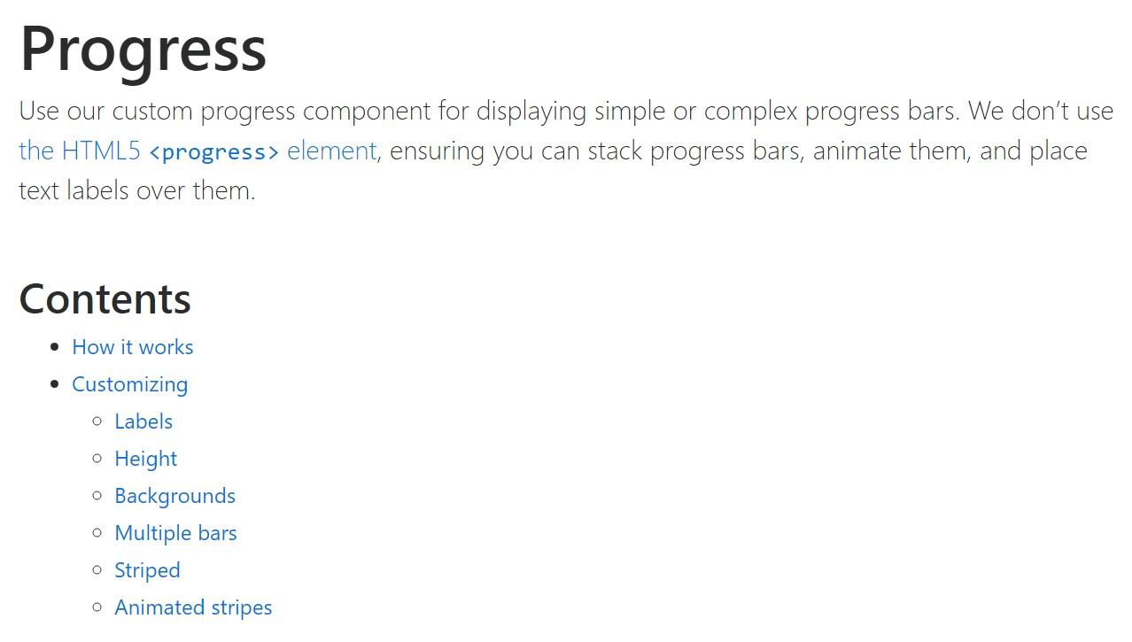 Bootstrap progress bar official  records