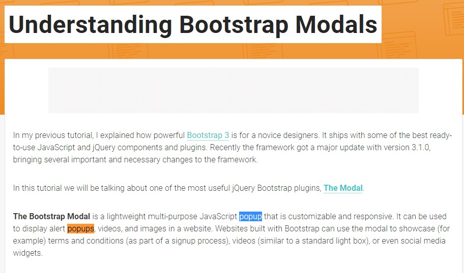 Another  handy article  regarding to Bootstrap Modal Popup
