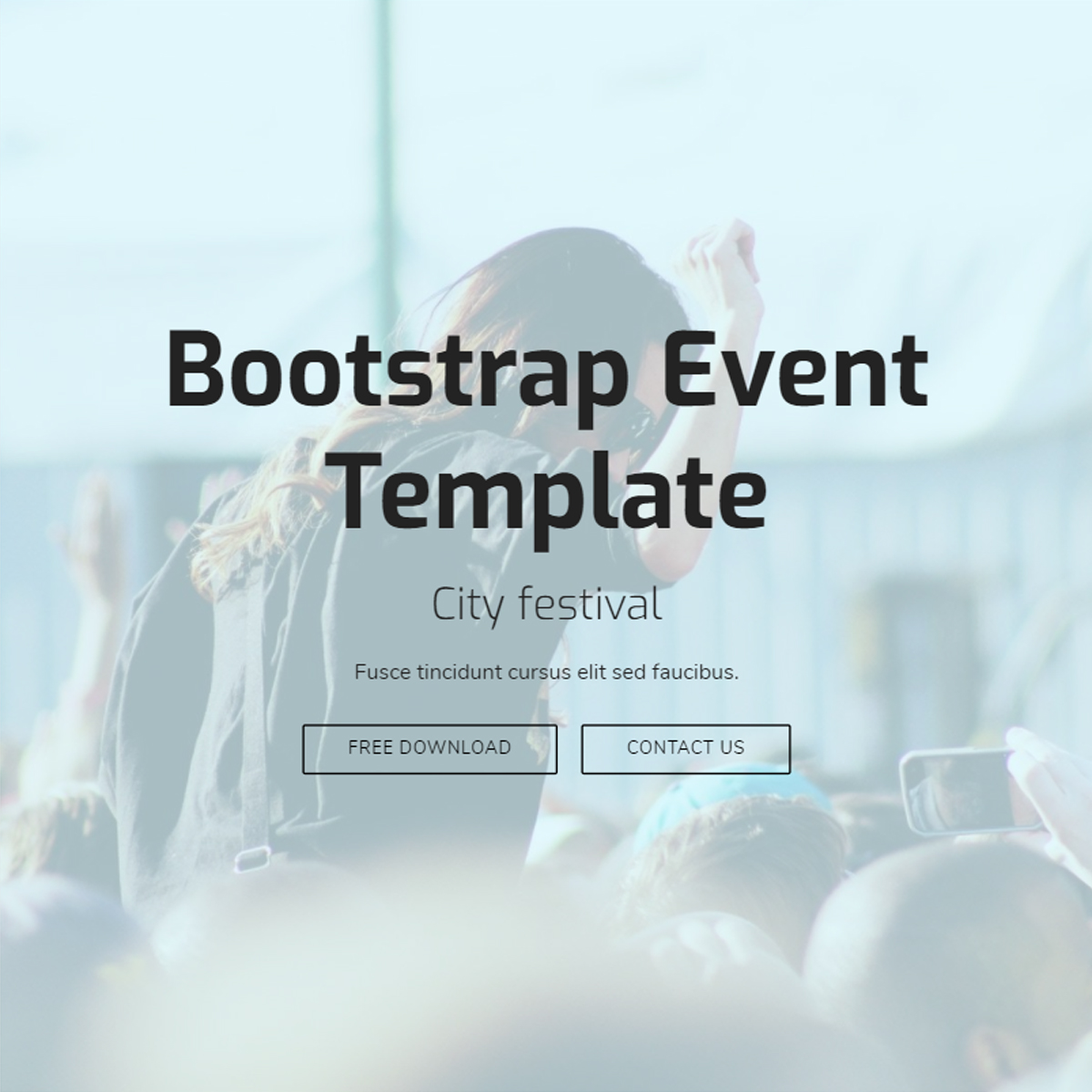 CSS3 Bootstrap Event Templates