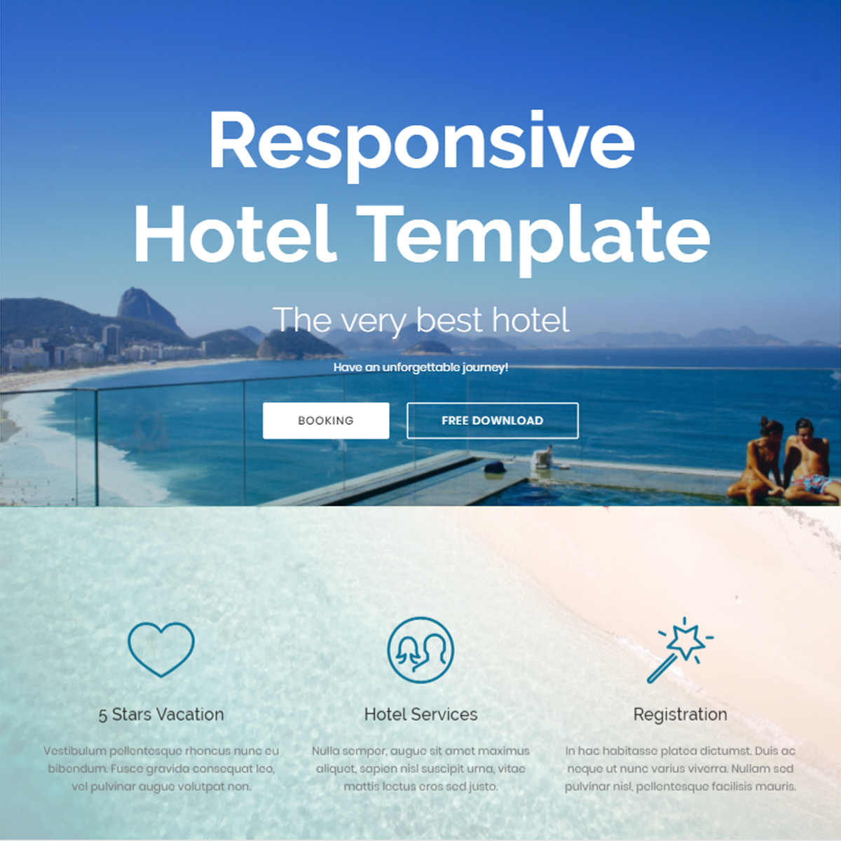 HTML5 Bootstrap Hotel Themes
